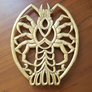 Solid Brass Vintage Lobster Trivet